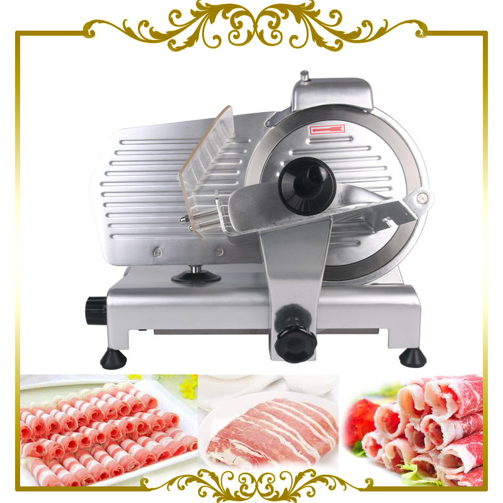 10 Blade Commercial Meat Slicer Electric Deli Slicer Veggies Cutter Kitchen Cutting Machine 110V only for USA itop 10 blade premium meat slicer electric deli cutter home kitchen heavy duty commercial semi automatic meat cutting machine