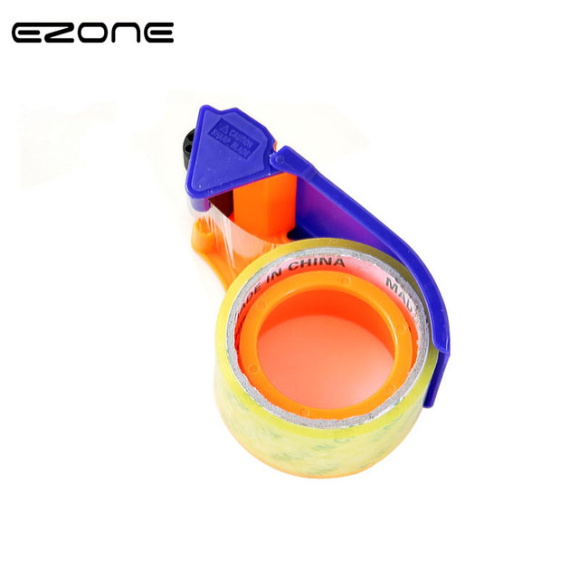 EZONE Transparent Adhesive Tape Dispenser Office Desktop Scotch Tape Holder Blue Tape Cutter Packing Machine Factory Supplies