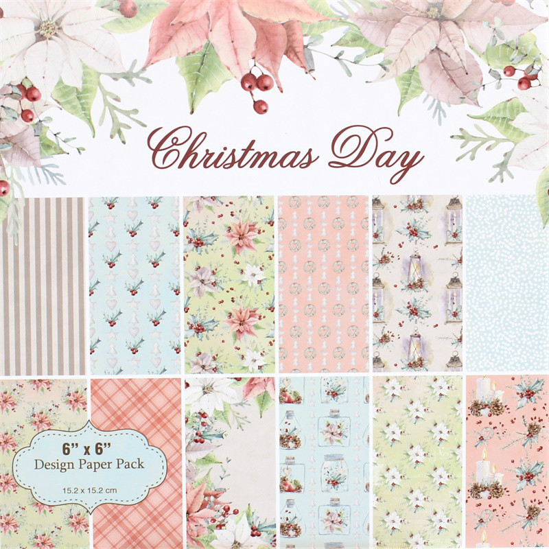 KSCRAFT 12pc Christmas Scrapbooking Pads Paper Origami Art Background Paper Card Making DIY Scrapbook Paper Craft