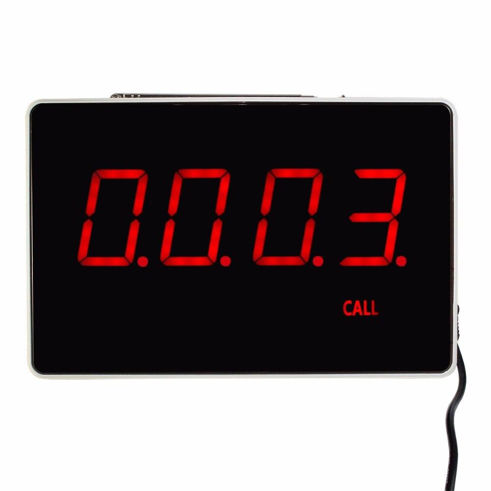 Четырехзначный дисплей хоста получателя голосовой отчетности вещания сигнальное устройство для ресторана Беспроводная система вызова 433,...