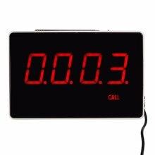 Cuatro Dígitos Display Host Receptor el Reporte con Voz Broadcast Restaurante Sistema de Llamada de Buscapersonas 433.92 MHz F3303B