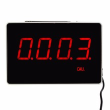 Четырехзначный Дисплей хоста получателя голос отчетности трансляции ресторан пейджер Беспроводной вызова Системы 433.92 мГц F3303B