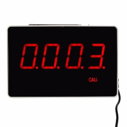 Four-Digit Display Receiver Host Voice Reporting Broadcast Restaurant Pager Wireless Calling System 433.92MHz F3303B