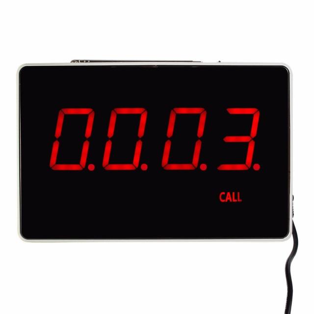 Quatro-Dois Dígitos Visor do Receptor Anfitrião Comunicação de Voz Transmissão Restaurante Sistema de Chamada de Pager 433.92 MHz F3303B