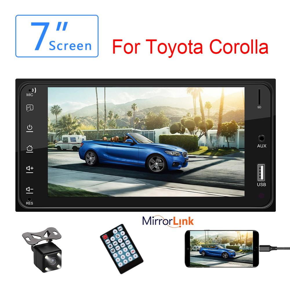 NEUE <font><b>2</b></font> <font><b>Din</b></font> Auto Radio TF <font><b>Bluetooth</b></font> Auto-Multimedia-player Für Toyota Corolla 7 ''<font><b>Autoradio</b></font> Mirrorlink <font><b>Bluetooth</b></font> Audio Radio stereo image