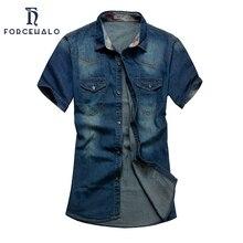 Отложным воротником сорочка джинсовые homme коротким футболки джинсы рубашки лето повседневная