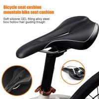 Confortável assento de bicicleta para homem acolchoado sela de bicicleta com almofada macia para mountain bike ed-grátis
