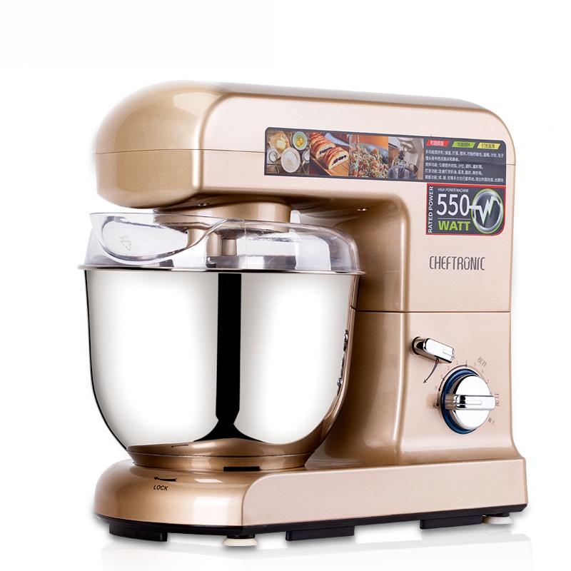 ZA10 Automatique table alimentaire processeur 304 cuisine en acier inoxydable mélangeur Pâte viande oeufs crème outils De Cuisson 4.5L 9 vitesse 550 W avec couvercle