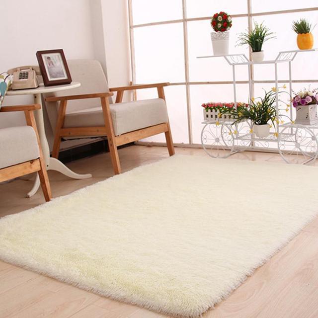 Aliexpress.com: Comprar 10 colores 120x160 cm grande espeso peludo suave  Alfombras área Tapetes Alfombras para comedor salón dormitorio oficina en  ...