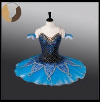 Fltoture Blue Bird Stage Costumes Girls Ballet Competition Tutu ATS9013 Child Custom Made Tutu 10 Layers
