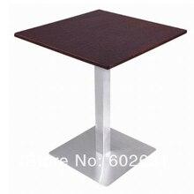 Журнальный столик из нержавеющей стали, основание из нержавеющей стали и МДФ топ, kd упаковка 1 шт./коробка, быстрая
