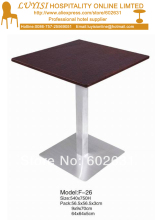coffee table,stainless steel base and MDF top,kd packing 1pc/carton,fast delivery