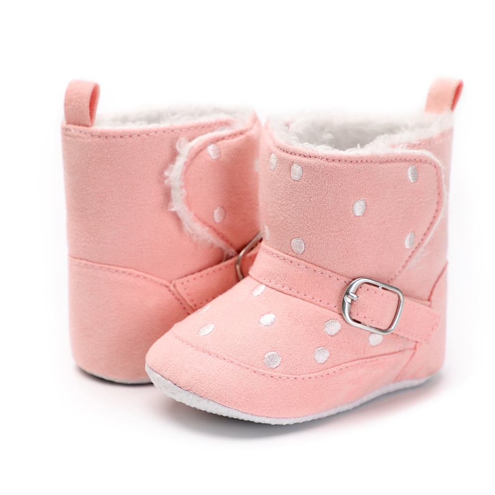 Winter Infant Shoes Baby Girl Leather Snow Boots Anti-Slip Baby Shoes Newborn Fleece Boy Toddler Moccasins Warm Cotton Booties