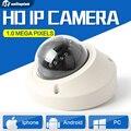 Onvif 1.0MP Mini 720 P Câmera Dome IP Vandalproof IR 10 M Noite visão de Rede H.264 HD P2P Nuvem CCTV Segurança Lente Da Câmera 3.6mm