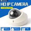 Onvif 1.0MP Mini 720 P Ip-камера Купольная Камера С ИК 10 М Ночь видение Сети H.264 HD CCTV Камеры Безопасности 3.6 мм Объектив P2P Облако