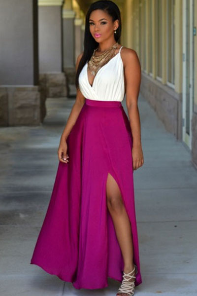 factory outlets rich and magnificent new appearance Fuchsia Maxi Skirt | Best Dresses 2019