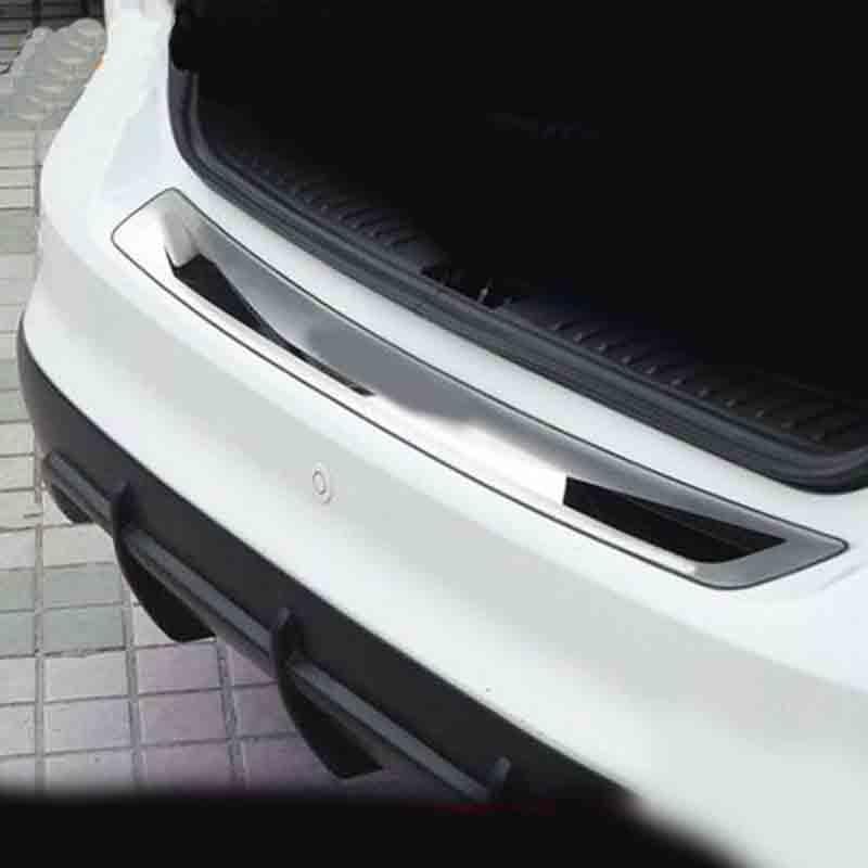Pour Ford Focus 3 MK3 2012-2017 Berline À Hayon De Voiture-Stying Après garde Pare-chocs Arrière Tronc Garde Porte seuil Plaque De Voiture Accessoires