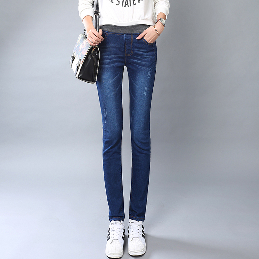 2016 korean summer women jeans mujer jean taille haute slim mom jeans femme feet jean slim