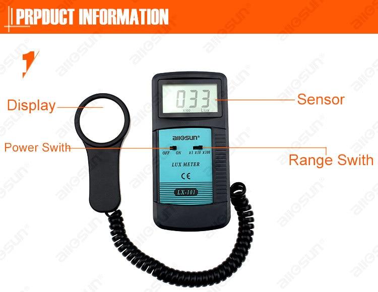 All Sun LX101 Luxmeter Luminometer Tester Photometer Digital LCD Light Meter