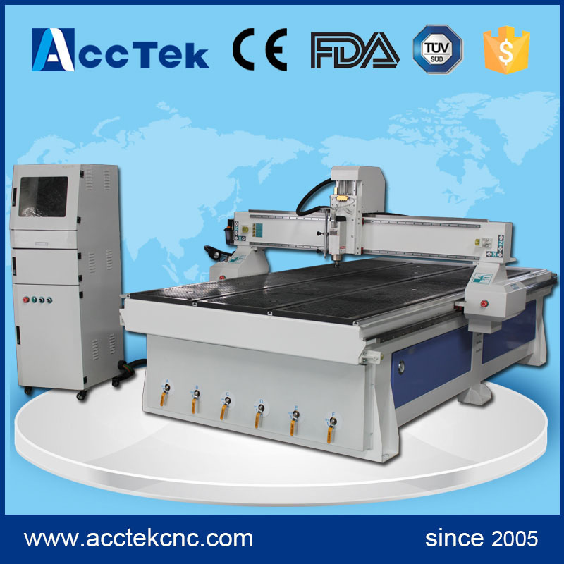 Water cooling spindle T slot table cnc wood engraving router 1530 for wood plastic acrylic aluminium