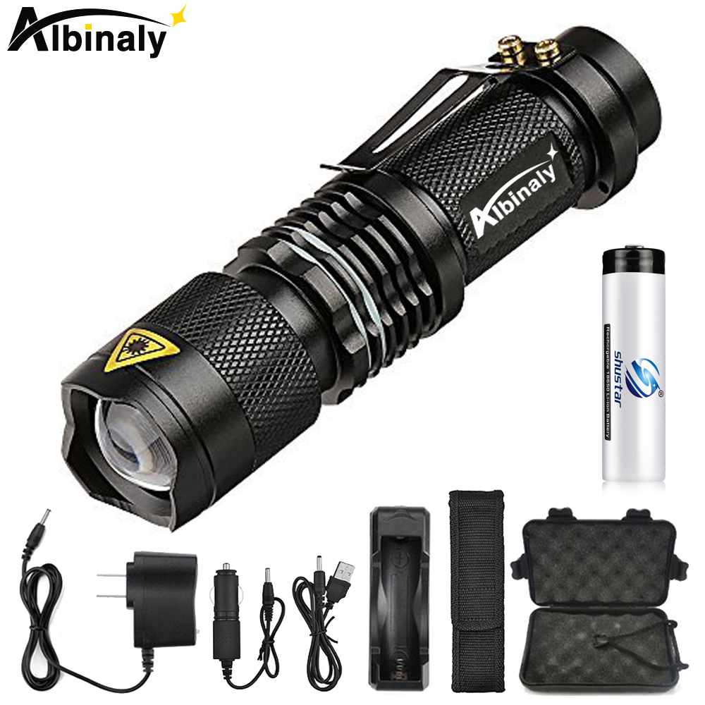 Super Brigh LED Flashlight Zoom L2 Led Lamp Bead Torch 5 Mode Camping Lamp Waterproof Use 18650 Rechargeable Battery