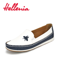 Hellenia Women Flats Size 36-41 2017 Spring Rounded Toe Flat Shoes girls Autumn Casual shoes women's shoes shoelaces PU Leather