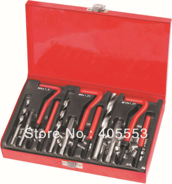 88Pc Thread Repair Kit Set Rethread M6 M8 M10 Damaged Threads Garage Tool New WT04J1051 42pc unf unc metric rethread bolt kit thread file repair tap tool restorer kit
