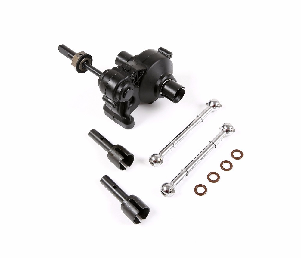 Metal Enhanced drive shaft Dog bone kit with Plastic complete diff gear box for 1 5