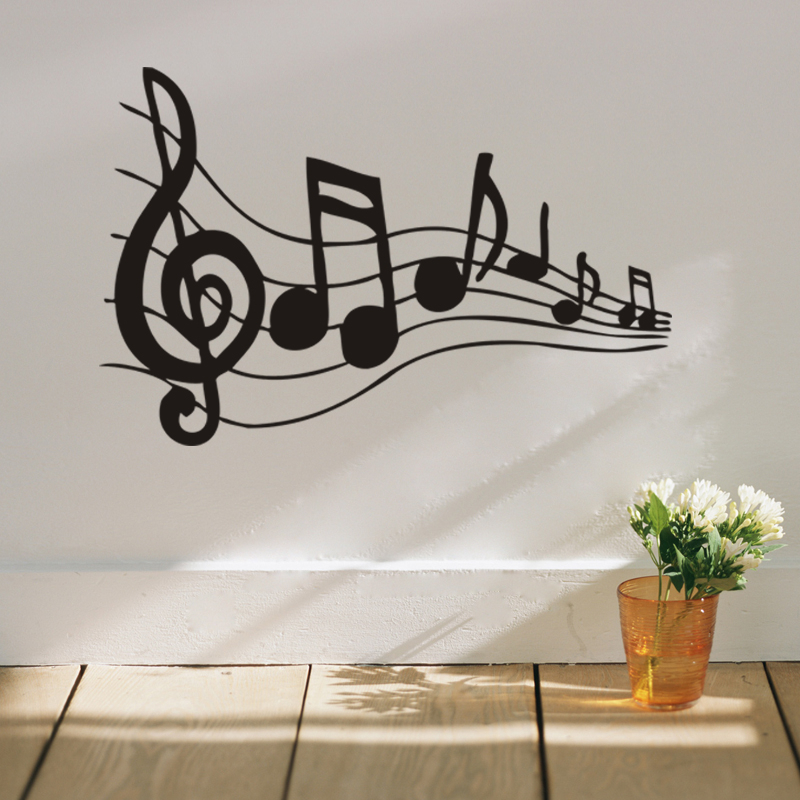 Aliexpress Buy Dancing Musical Note Home Decor Wall Stickers Rhaliexpress: Music Note Home Decor At Home Improvement Advice