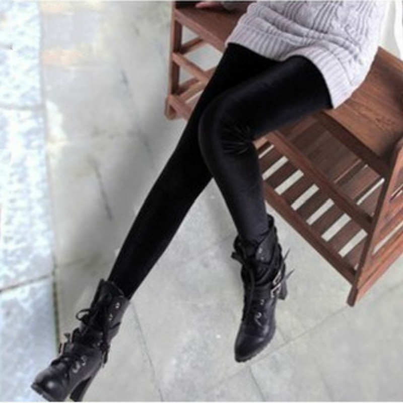 New velvet leggings women legging High Elastic Crushed Velvet Pants Push up Slim Leggings