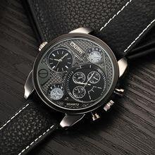 Oulm Montres Mâle Quartz-Montre Casual Bracelet En Cuir Montre-Bracelet Militaire Hommes Montres Top Marque De Luxe relojes hombre