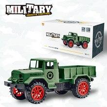Ertongรีโมทคอนโทรลทหารรถบรรทุก4ล้อOff Roadรถบรรทุกทหารรุ่นของเล่นเด็กปริศนาของขวัญร้อน ขายของเล่น