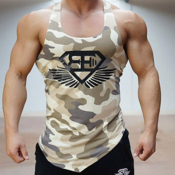 Men's Bodybuilding vest gyms tank top sport-shirt Running T-shirts Short Sleeve Sports  M-16 1