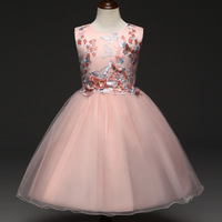 Fairy Flower Girl Dress Pageant Wedding Party Dress Children Fancy Toddler Elegant Dress Butterfly Tulle for Girls Kids Clothes
