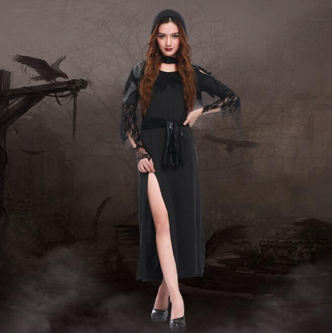Halloween carnival cos witch Costume for font b women b font Scarey font b Cosplay b