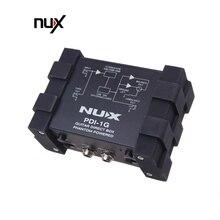 NUX гитарная коробка с прямым впрыском и фантомным питанием, аудиомиксер Para Out, компактный металлический корпус