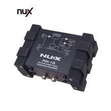 Nux PDI 1G guitarra injeção direta fantasma caixa de energia misturador áudio para fora design compacto metal habitação