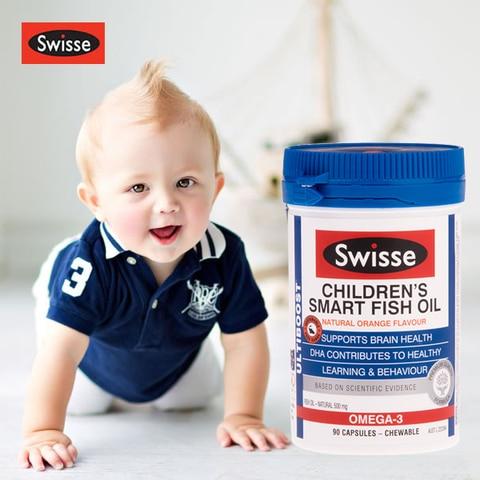 australia swisse infantil inteligente 90 tampas de oleo de peixe epa dha acidos graxos omega
