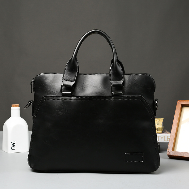 Luxury Genuine Leather Men's Briefcases 14
