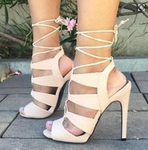 Горячие продажи имя gladator вырезы высокий каблук женщины сандалии с открытым toe, босоножки, летние сандалии размер 34-42 платье обувь