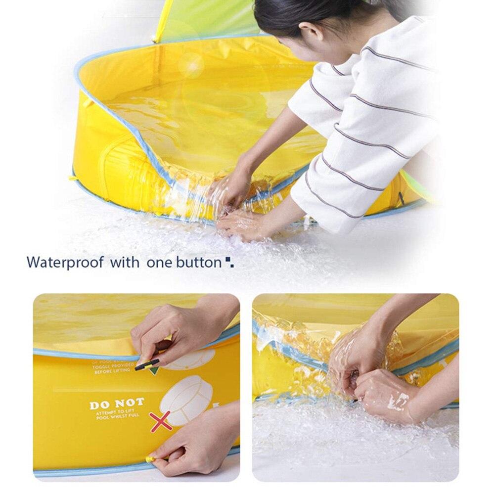Baignoire tente forme intérieure extérieure plage soleil ombre usage domestique Portable balle cadre pour enfants piscine étanche jouer propre