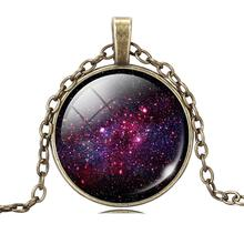 Women's Necklace with Glass Space Pendant
