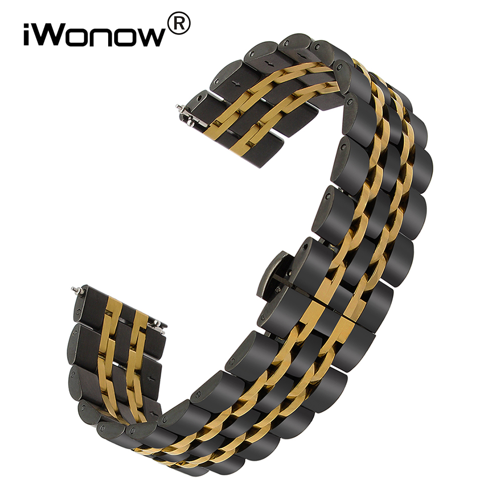 18 20 22mm Quick Release Stainless Steel Watchband for Luminox Maurice Lacroix Watch Band Wrist Strap Bracelet Black Gold Silver maurice lacroix el1094 pvp06 150 1