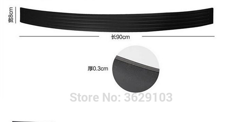 Car rear bumper protective decorative strips sticker accessories car styling for Cadillac srx cts ats escalade sts dts bls