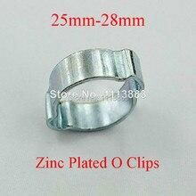 25-28mm Zinc Plated O Clips Double Ear Hose Clamp