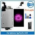 Полная Сборка Для Apple iPhone 5 5C 5S ЖК-Дисплей С Сенсорным Экраном Digitizer Замена AAA качество + Home Button + Передняя Камера