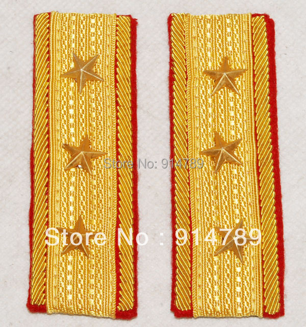 PAIR WWII IMPERIAL JAPANESE ARMY SENIOR GENERAL SHOULDER BULLION BOARDS -32428