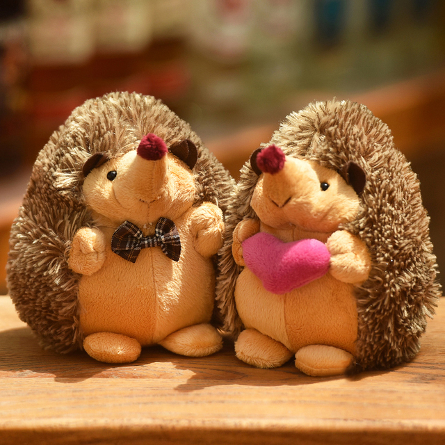 15cm Cute Lovely Soft Hedgehog Animal Doll Stuffed Plush Toy Child Kids Home Wedding Party Toys for Children Kid gift