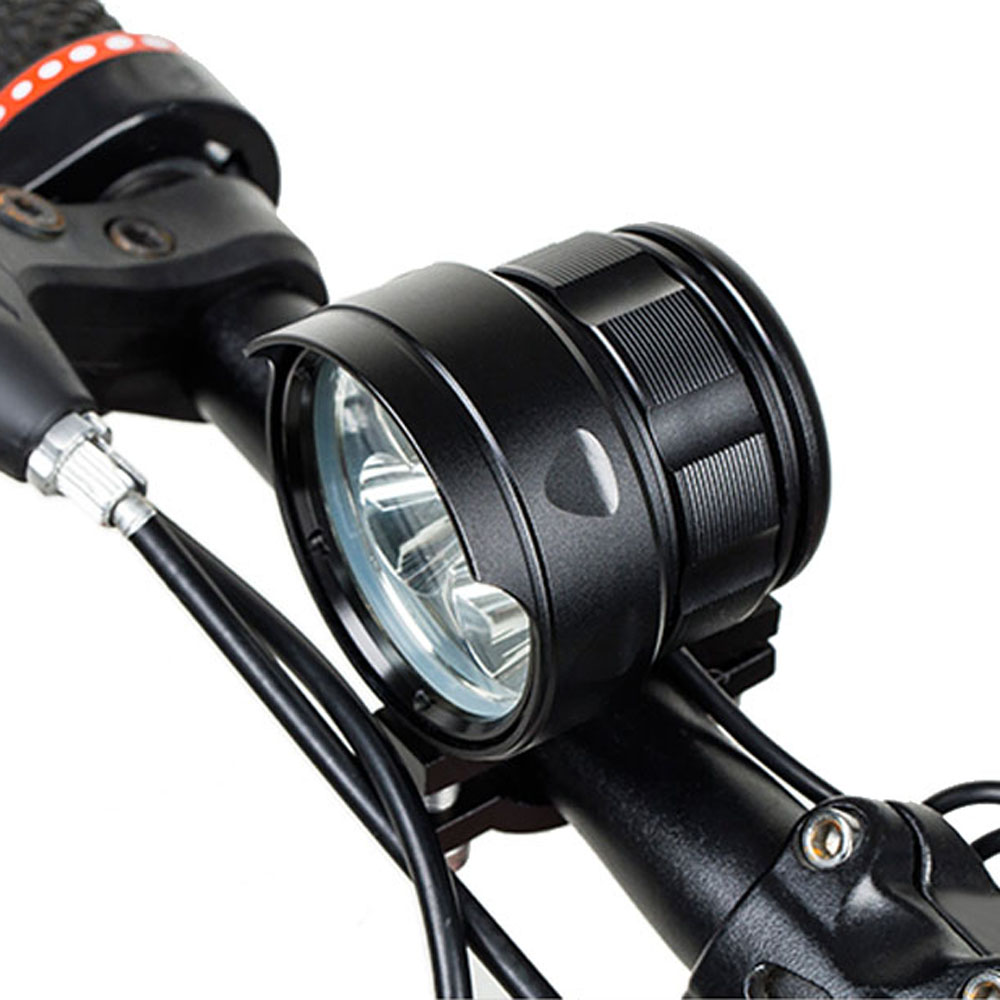 Shock Resistant & IP6 Waterproof Led Bicycle Front Light Bike Headlight 5 to 18 * XML T6 Lamp with 6*18650 Battery Power Pack