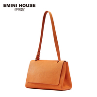EMINI HOUSE Genuine Leather Shoulder Bags Simple Style Women Bag Long Strape Women Messenger Bags High
